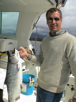 Matt with salmon